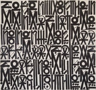 RETNA, 'Serenity of the mind States Moments of dark days allows Soaring like a search light -High-', 2012