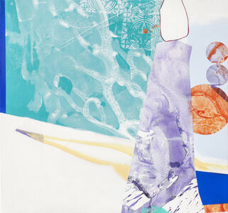 Fiona Ackerman, 'Everyone Is Trying to Make a Bigger Splash - Layered shapes in coral and pastels', 2018