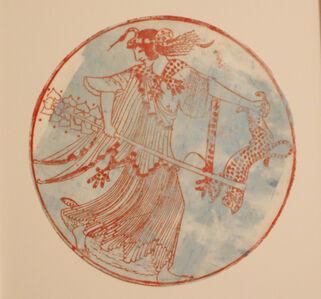 Nancy Spero, 'Maenad Circle, Circle blau', 2003