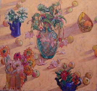 Joseph Plaskett, 'Begonia, Dahlia, Red Rose, Apples', ca. 2005