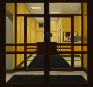 Peter Harris, 'Lobby at #7 (Hotel window)', 2016