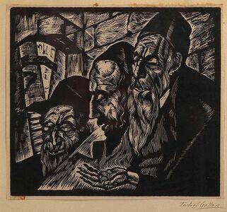 Todros Geller, 'Three Jewish Men', Early 20th Century