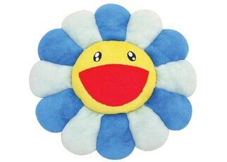 FLOWER CUSHION BLUE