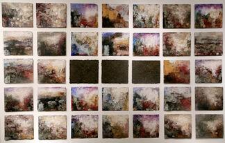 Terra Bruciata paperwork series by Orazio, installation view