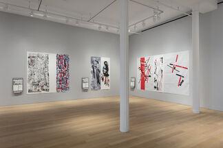 Eugenio Dittborn: Pinturas Aeropostales Recientes, installation view