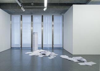 Balance Sheets, installation view