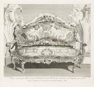 Juste-Aurèle Meissonnier, 'Canapé executé pour Mr. le Comte de Bielinski Grand M.al de la Couronne de Pologne, 4th Plate', 1735