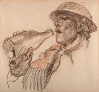 Sir Frank Brangwyn, 'Soldier drinking wine from a bottle', Unknown