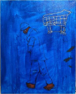Demetrius Wilson - Dirty Brushes, Wine & the Untold, installation view