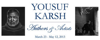 Yousuf Karsh: Authors & Artists, installation view