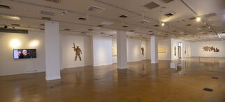 """""""Between the Lines"""" Solo by Khalil Chishtee, installation view"""