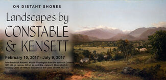 On Distant Shores: Landscapes by Constable and Kensett, installation view