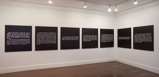Joseph Kosuth. Made at Conception, installation view