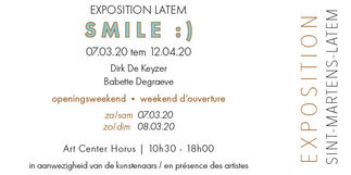 SMILE :), installation view