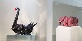 Foldable  Façade- Guo Jian   Recent painting and sculpture, installation view