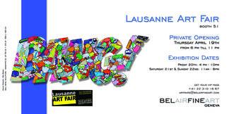 Bel-Air Fine Art at Lausanne Art Fair 2018, installation view