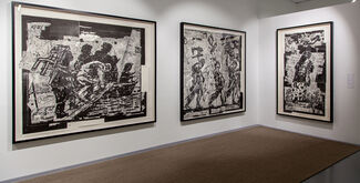 William Kentridge's Triumphs and Laments Woodcuts Series, installation view