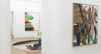 KATHARINA GROSSE - Snakes lie between her and the shore, installation view