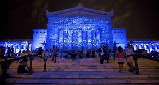 DIVINA NATURA: Field of Light, installation view