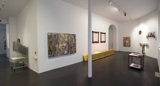 Intérieurs - curated by Sarkis - with works by Eugène Leroy and Sarkis, installation view