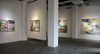 """""""The Fortuitous Encounter of a Sewing Machine and an Umbrella on a Dissecting Table"""" 雨伞和缝纫机在手术台上偶遇, installation view"""