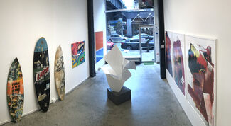 "THE BACK ROOM NYC: Featuring ANJA VAN HERLE, ANTHONY HUNTER, JOHN ""CRASH"" MATOS, GREG MILLER + MATT DEVINE, installation view"
