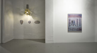 """Inga Meldere """"House by the waterfall or colouring books for adults"""", installation view"""