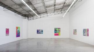 Eddie Peake: Caustic Community (Masks and Mirrors), installation view