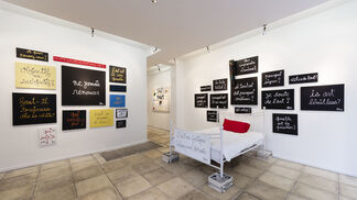 """Ben """"What is the question?"""", installation view"""