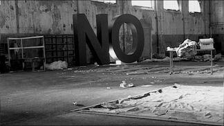 "Santiago Sierra - ""NO, Global Tour"", installation view"