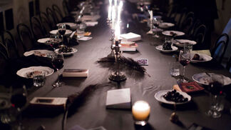 Dîner Noire and The Library is on Fire 1(c): Haunting Glyphs, installation view