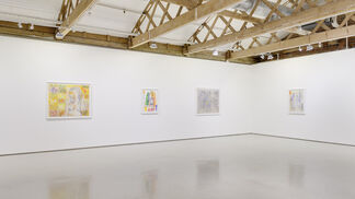 Ghada Amer & Reza Farkhondeh: Love is a Difficult Blue, installation view