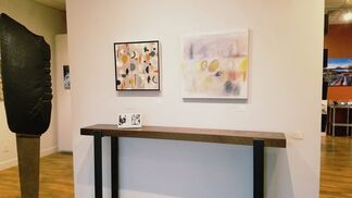 Surface & Depth: Stone and Paper - Tom Small, Sculpture and Kathryn Trigg, Monotype paintings, installation view