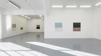 Mirror falling from the wall, installation view