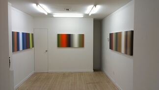 Flying Houses and Spectrum Paintings, installation view