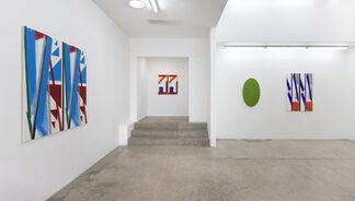 Matt Connors, Bernard Piffaretti, and Michael Rey, installation view