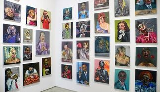 """Dawn Mellor - """"A Curse on Your Walls"""", installation view"""