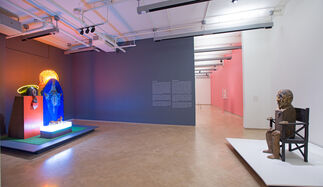 MARISOL: Sculptures and Works on Paper, installation view