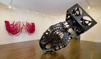 Robert Morris. Red and Black Black and Red, installation view