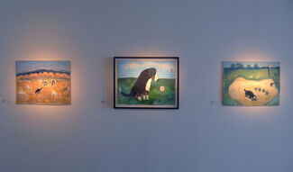 """Theodore Waddell """"Out To Pasture"""", installation view"""