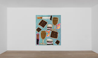 Katherine Bernhardt — Product Recall: New Pattern Paintings, installation view