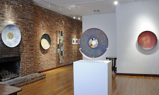 MATERIALIZE: Aluminum and Steel Paintings by Fancie Hester & Encaustic Works by Amber George, installation view