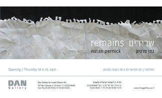 Remains - Natan Pernick, installation view