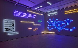 'Agnosia, an Illuminated Ontology' an Installation by Joseph Kosuth, installation view