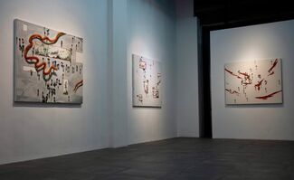 Deeper Strata of Meaning: New Works by Chen Linggang, Hu Weiqi, and Wang Haichuan, installation view