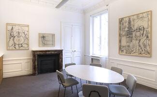 "Konrad Klapheck : ""Dessins (1974-2014)"", installation view"