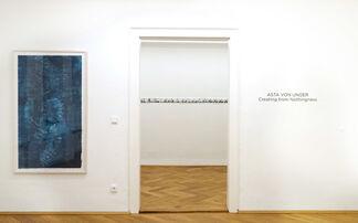 ASTA VON UNGER - Creating from Nothingness, installation view
