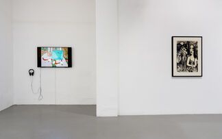 Any body suspended in space will remain in space until made aware of its situation, installation view