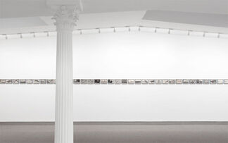 POST-CARD featuring works by Carl Andre, Eleanor Antin, Hanne Darboven, Gilbert & George, and Sherrie Levine, installation view