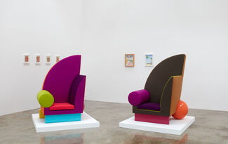 Peter Shire: Drawings, Impossible Teapots, Furniture & Sculpture, installation view